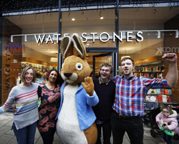 Peter Rabbit opens Waterstone's